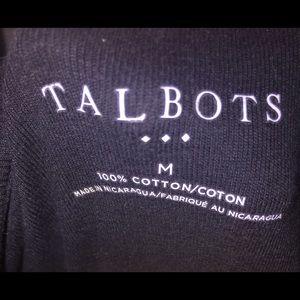 Talbots black long sleeve med